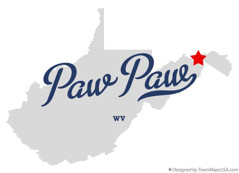 Map of Paw Paw West Virginia WV