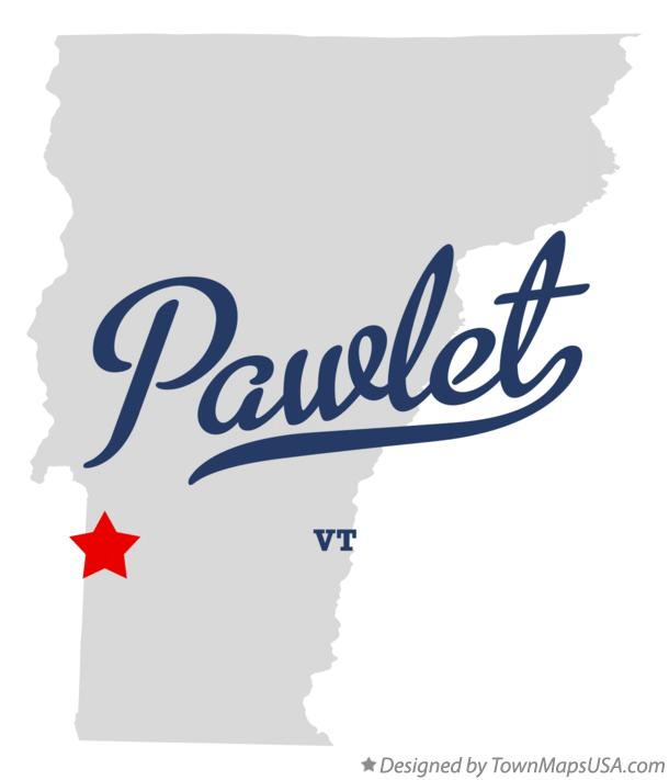 Map of Pawlet Vermont VT