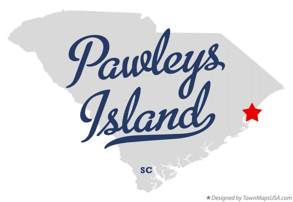 Map of Pawleys Island South Carolina SC