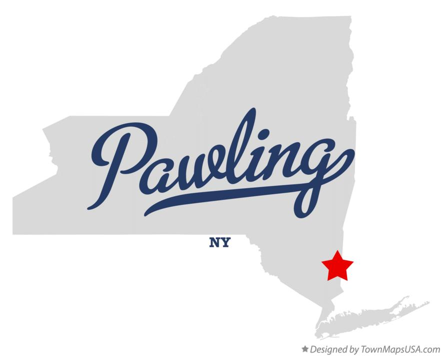 Map of Pawling New York NY