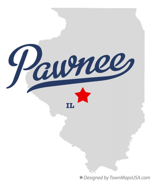 Map of Pawnee Illinois IL