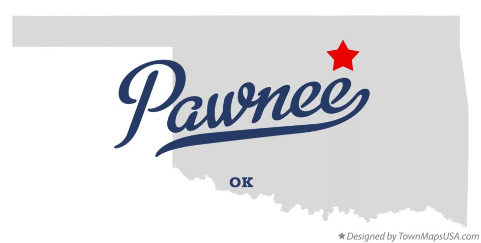 Map of Pawnee Oklahoma OK