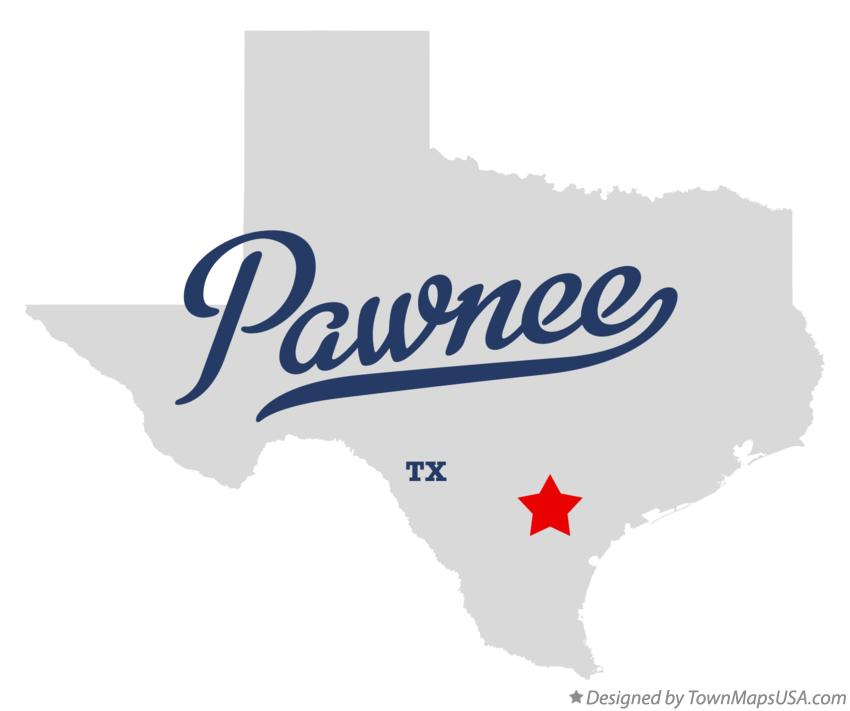 Map of Pawnee Texas TX