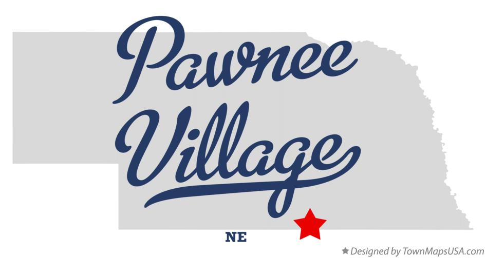 Map of Pawnee Village Nebraska NE