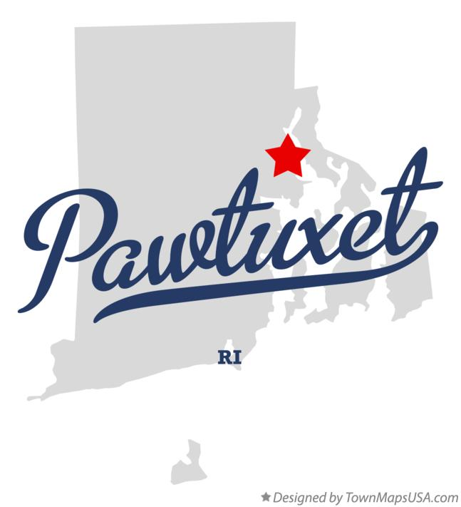 Map of Pawtuxet Rhode Island RI
