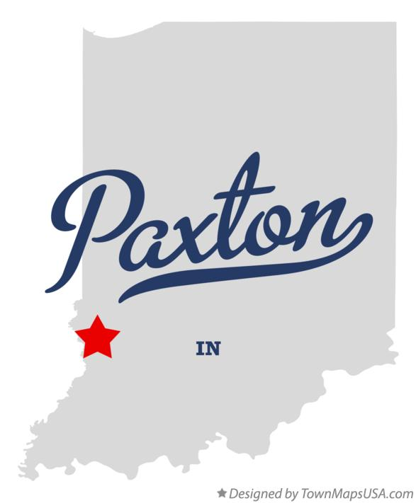 Map of Paxton Indiana IN