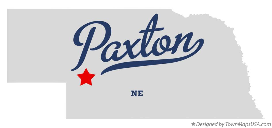 Map of Paxton Nebraska NE