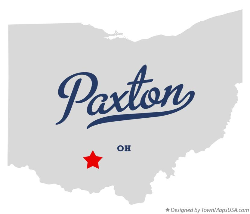 Map of Paxton Ohio OH
