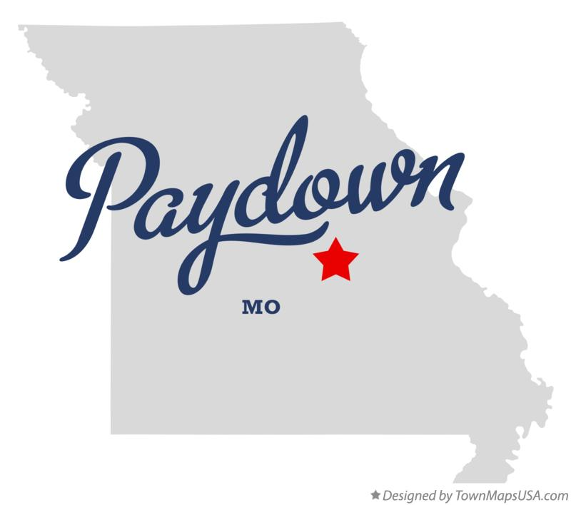 Map of Paydown Missouri MO