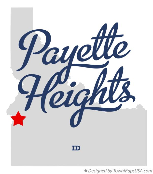 Map of Payette Heights Idaho ID