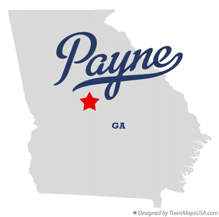 Map of Payne Georgia GA