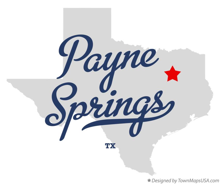 Map of Payne Springs Texas TX