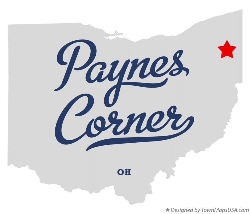 Map of Paynes Corner Ohio OH