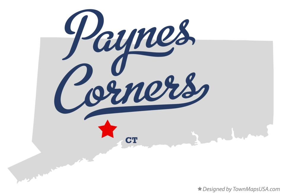 Map of Paynes Corners Connecticut CT
