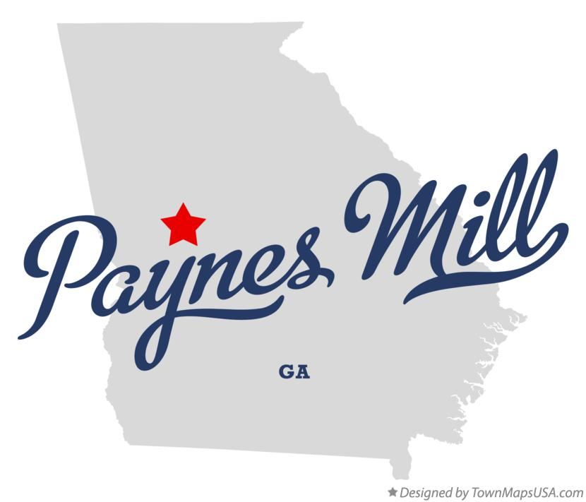 Map of Paynes Mill Georgia GA