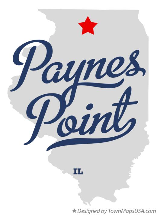 Map of Paynes Point Illinois IL