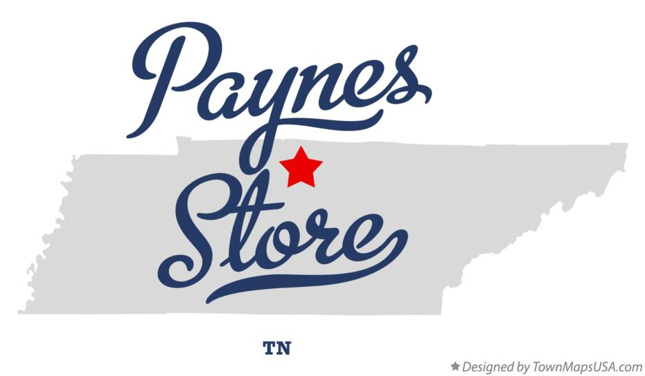 Map of Paynes Store Tennessee TN