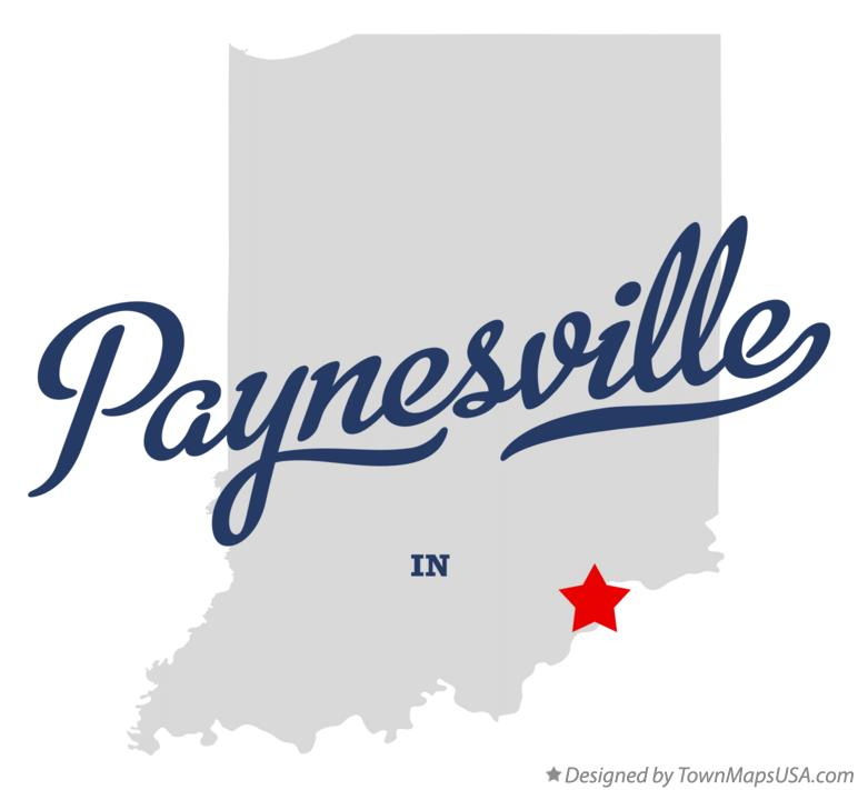 Map of Paynesville Indiana IN