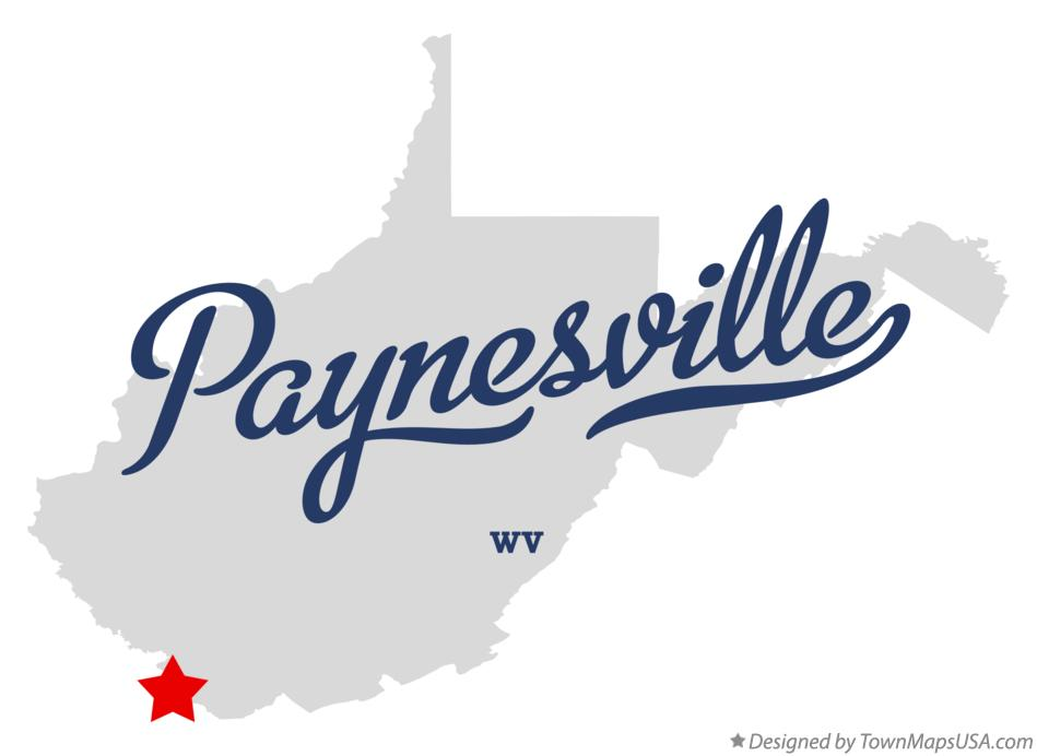 Map of Paynesville West Virginia WV