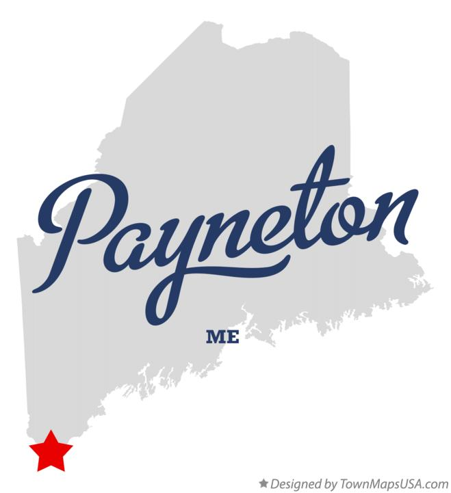Map of Payneton Maine ME