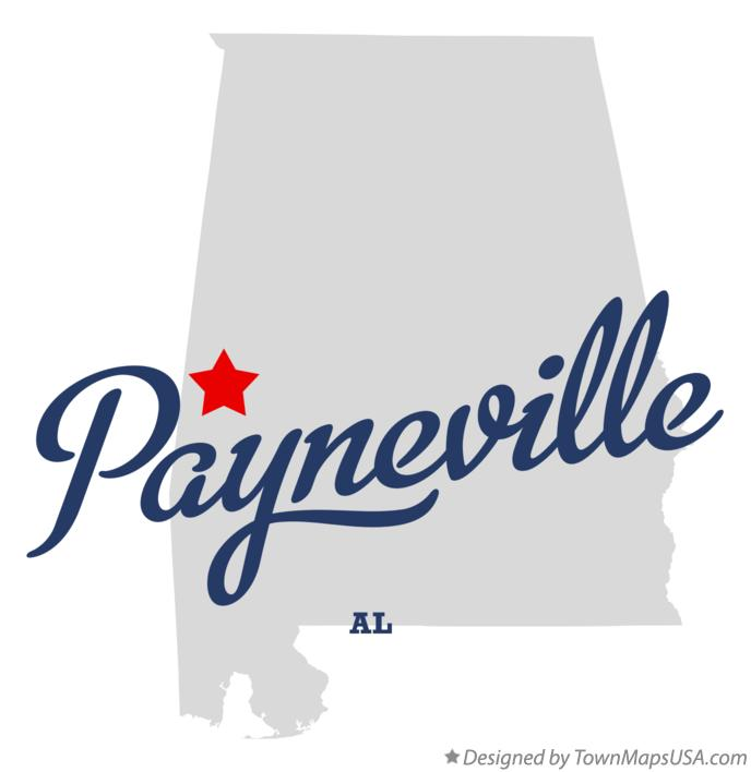 Map of Payneville Alabama AL