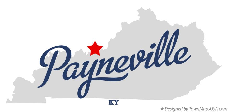 Map of Payneville Kentucky KY