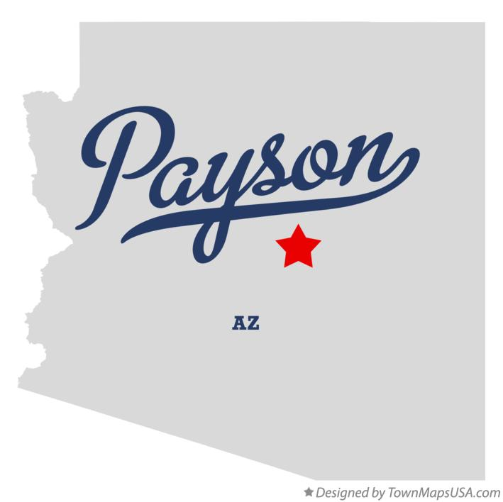 Map of Payson Arizona AZ