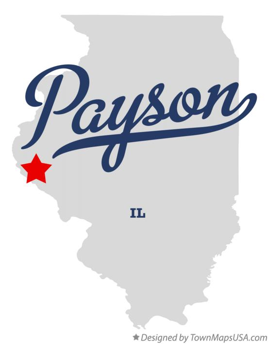 Map of Payson Illinois IL