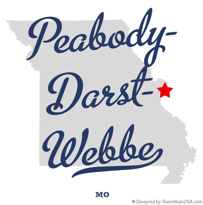 Map of Peabody–Darst–Webbe Missouri MO