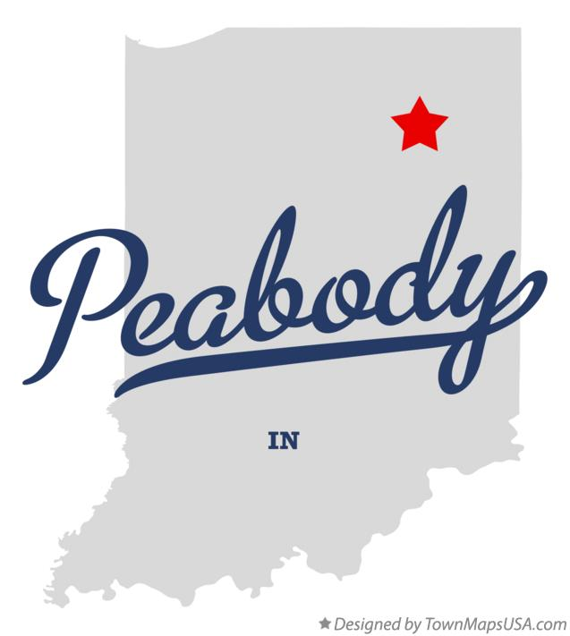 Map of Peabody Indiana IN