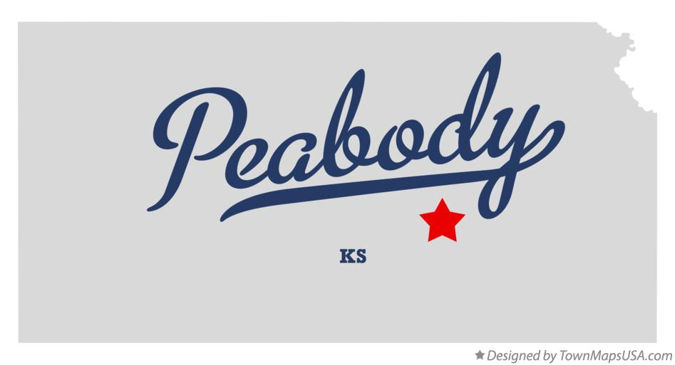 Map of Peabody Kansas KS