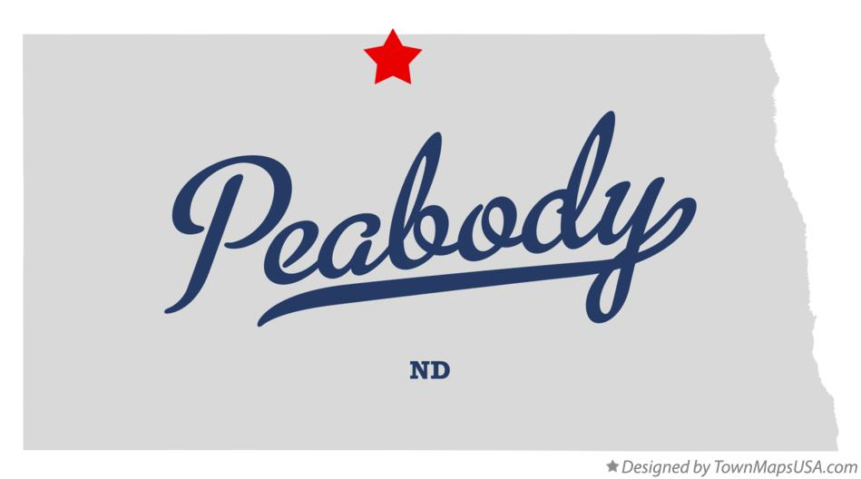 Map of Peabody North Dakota ND
