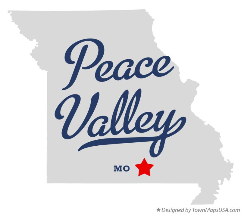 Map of Peace Valley Missouri MO