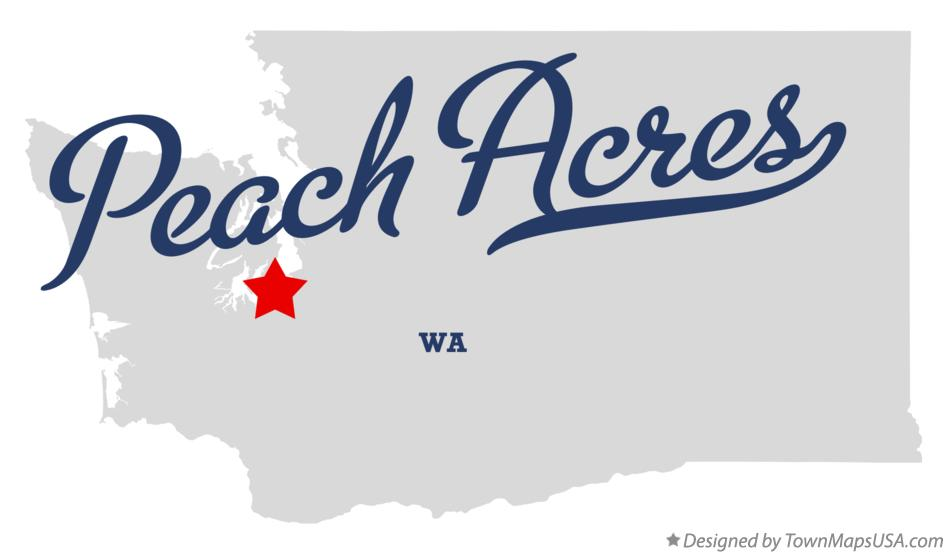Map of Peach Acres Washington WA