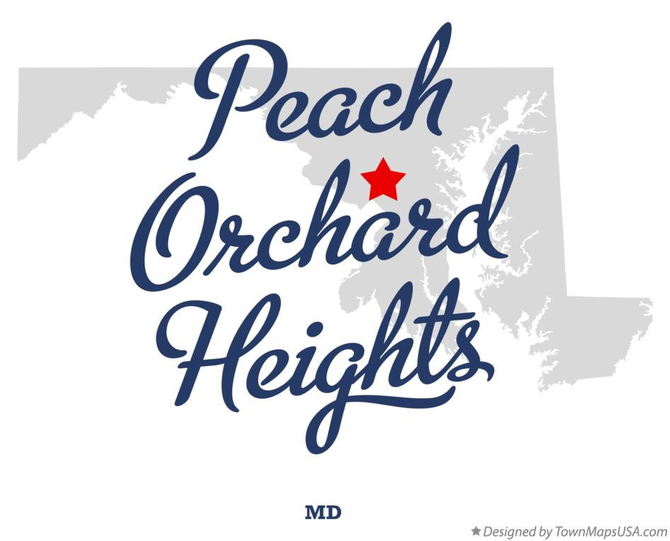 Map of Peach Orchard Heights Maryland MD