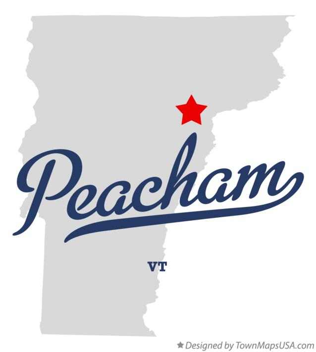 Map of Peacham Vermont VT