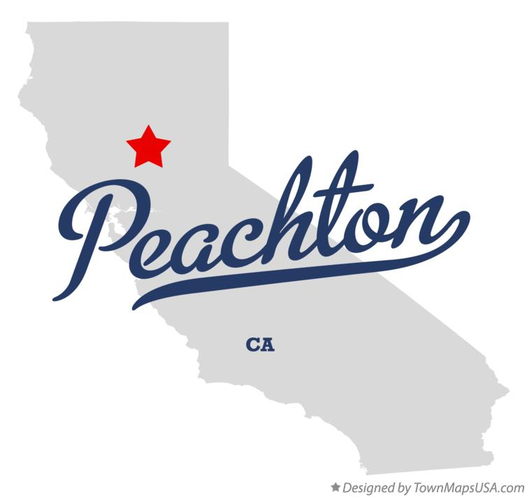 Map of Peachton California CA