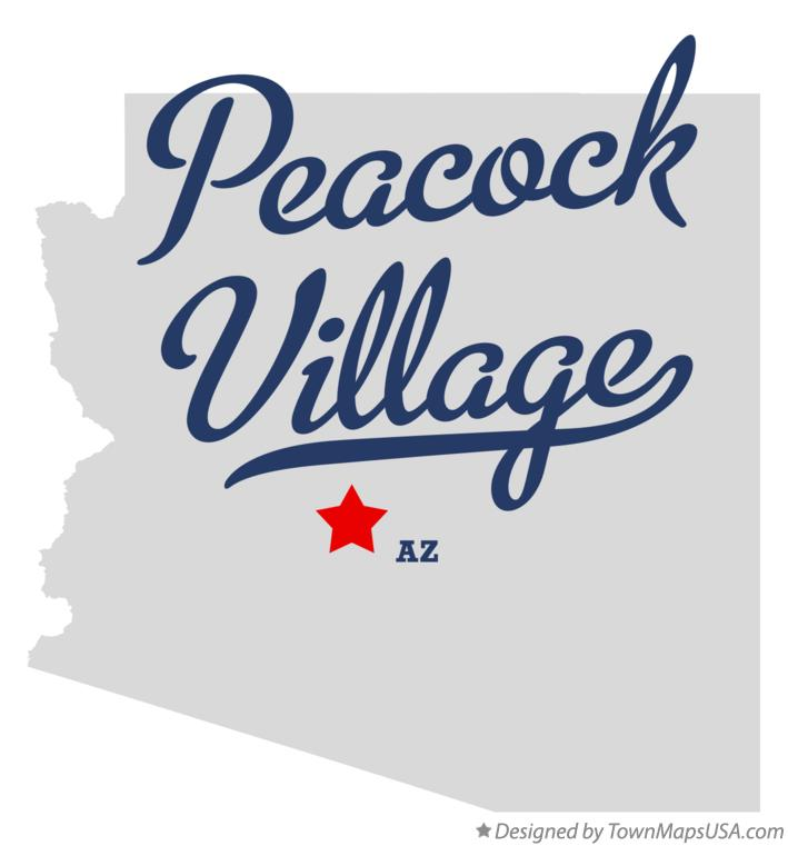 Map of Peacock Village Arizona AZ