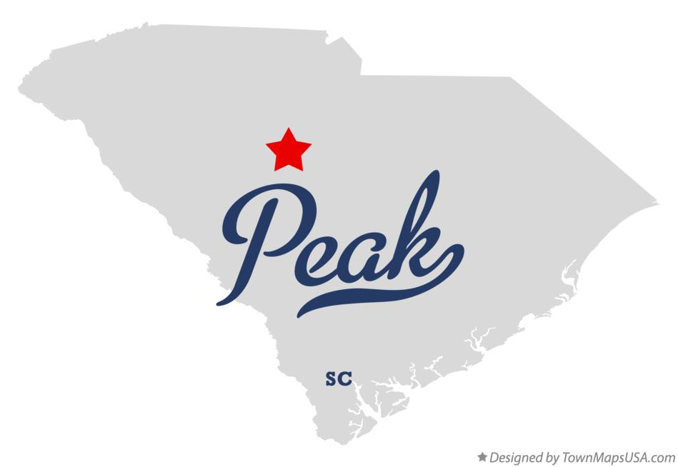 Map of Peak South Carolina SC