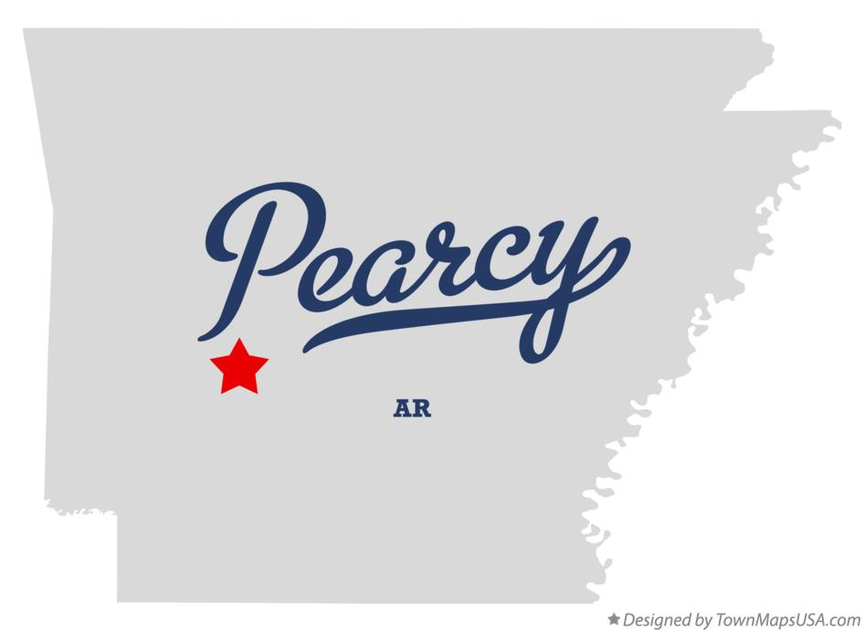 Map of Pearcy Arkansas AR
