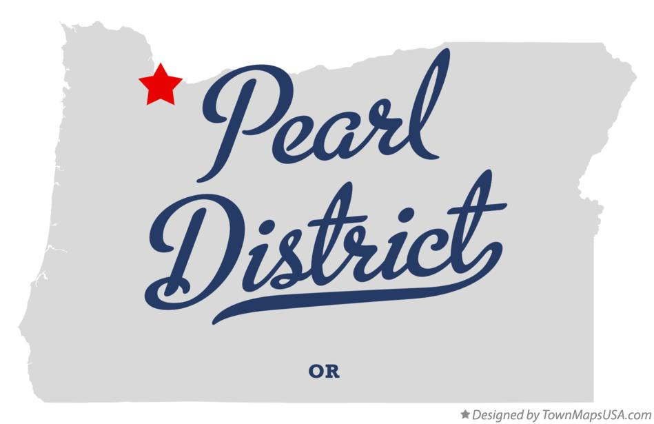 Map of Pearl District Oregon OR