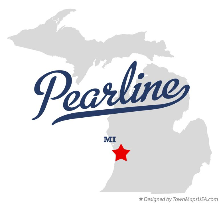 Map of Pearline Michigan MI