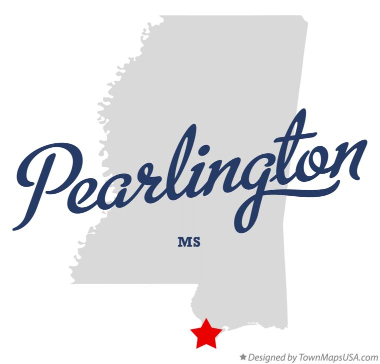 Map of Pearlington Mississippi MS