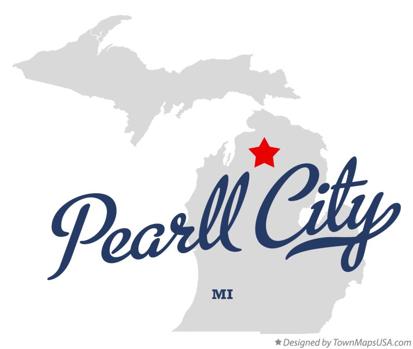 Map of Pearll City Michigan MI