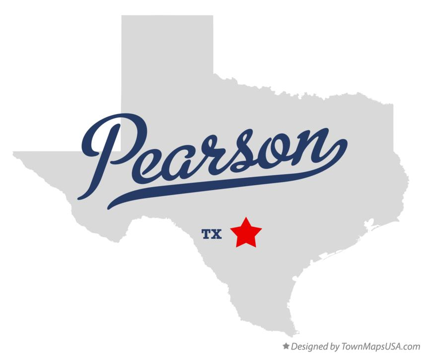 Map of Pearson Texas TX