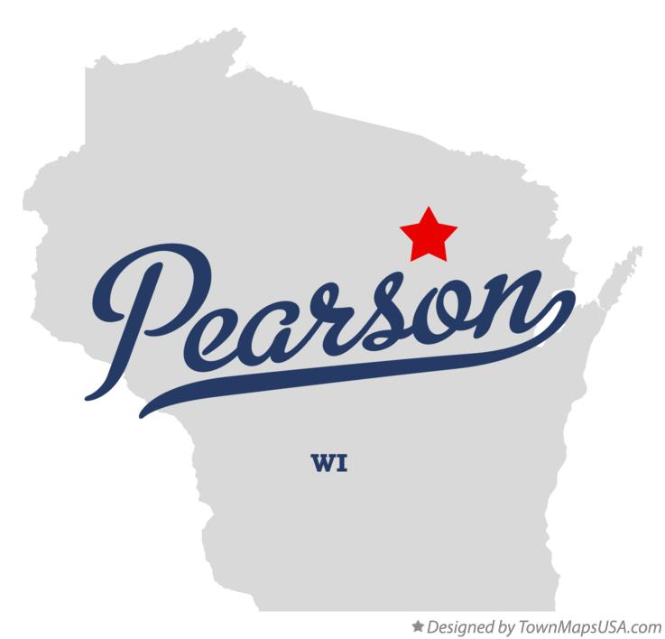 Map of Pearson Wisconsin WI
