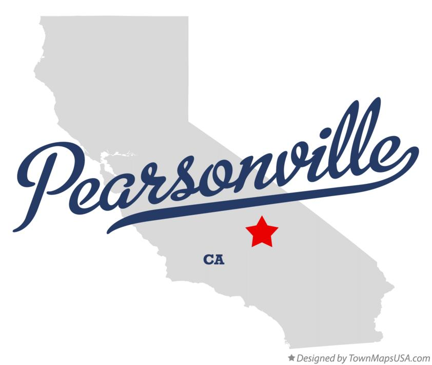 Map of Pearsonville California CA