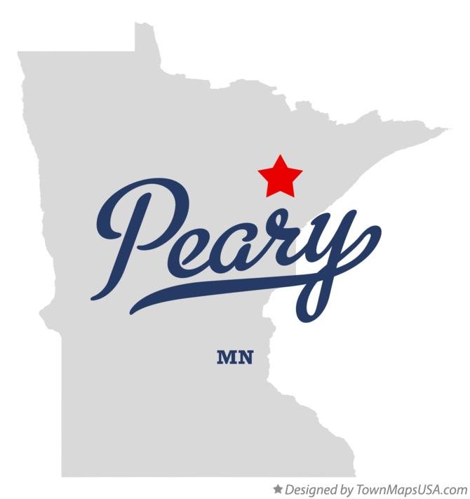 Map of Peary Minnesota MN