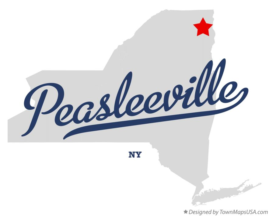 Map of Peasleeville New York NY