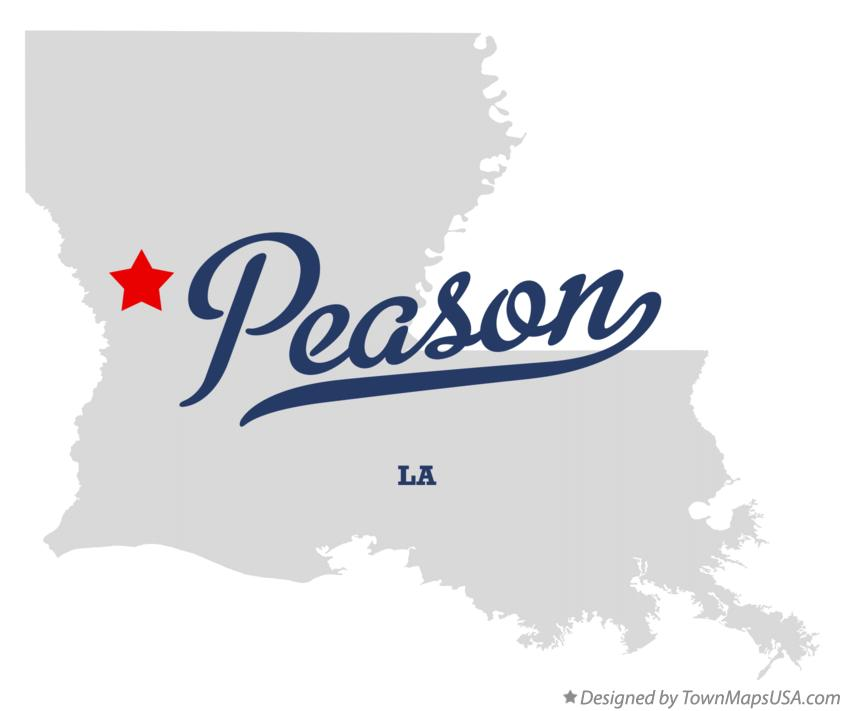 Map of Peason Louisiana LA